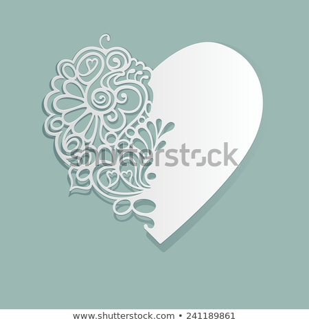 Valentine's day lacy paper heart card. EPS 10 Stock photo © beholdereye
