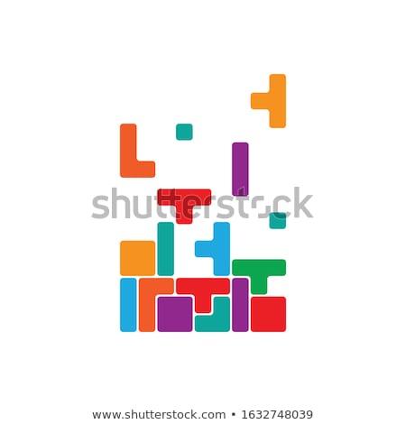 lógica · azul · rompecabezas · blanco · pensando · pensar - foto stock © lom