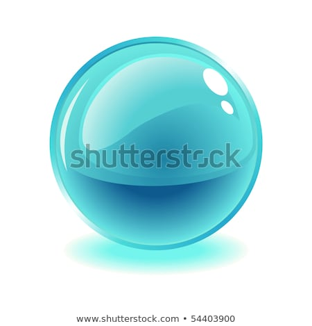 white transparent glass sphere with glares and highlights Stock photo © Fosin