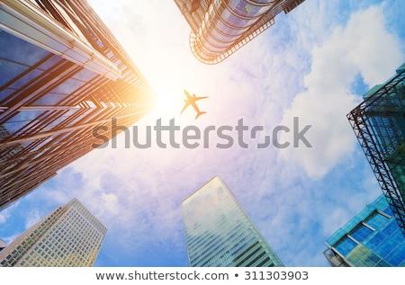 抽象的な · 飛行 · 市 · 黄色 · 太陽 · 日光 - ストックフォト © tracer