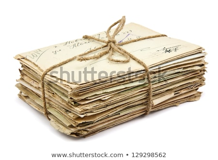 pile of old letters stock photo © stickasa