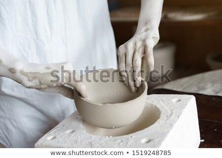 eller · kil · çanak · çömlek · tekerlek · sanatçı · biçim - stok fotoğraf © bbbar