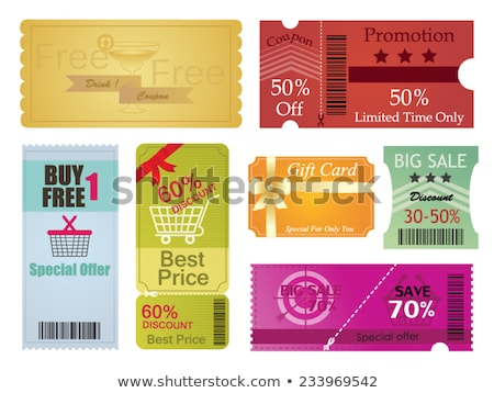 Big Collection of Voucher Gift Card layout templates Stock photo © DavidArts