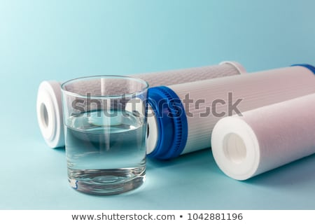 Foto stock: água · filtrar · isolado · branco · azul · beber