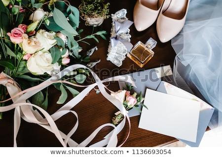 букет · красивой · розовый · свадьба · цветы - Сток-фото © artfotodima