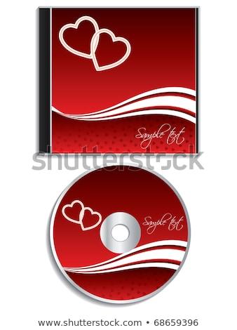 Fényes cd tok piros ezüst tükröződés Stock fotó © nicemonkey