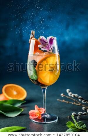 Italok ehető ételek illusztráció fehér háttér Stock fotó © bluering