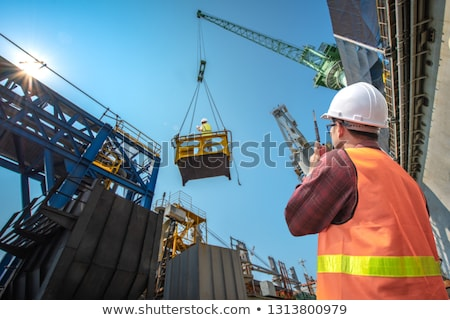 Harbor cranes working Stock photo © jordanrusev