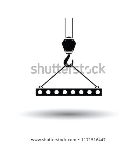 ikon · állvány · kampó · kötél · szín · terv - stock fotó © angelp