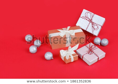 Still life concept of one red and many white gifts Stock photo © ozgur