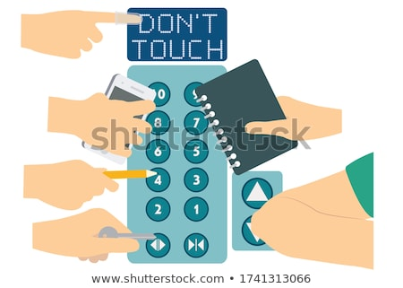 Buttons with keys Stock photo © bluering