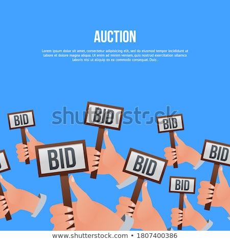 Auktion · Hammer · weiß · isoliert · 3D · Bild - stock foto © anatolym