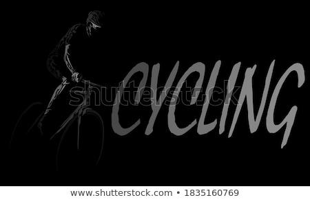 Triathlon ícone roxo ilustração esportes projeto Foto stock © bluering