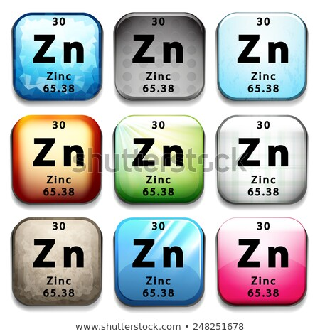 周期表 亜鉛 白 教育 化学 ストックフォト © bluering