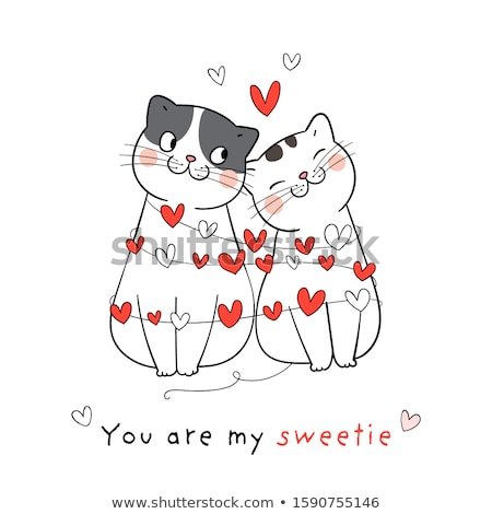 Boda gatos amor gato funny Cartoon Foto stock © adrenalina