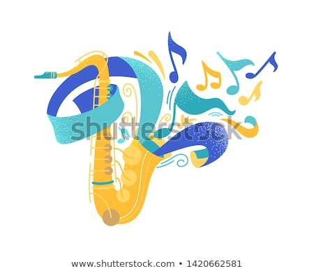 Stock photo: Classical saxophon vector illustration.