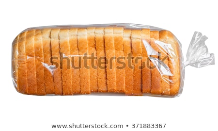 Groot brood brood witte achtergrond zwarte Stockfoto © bluering