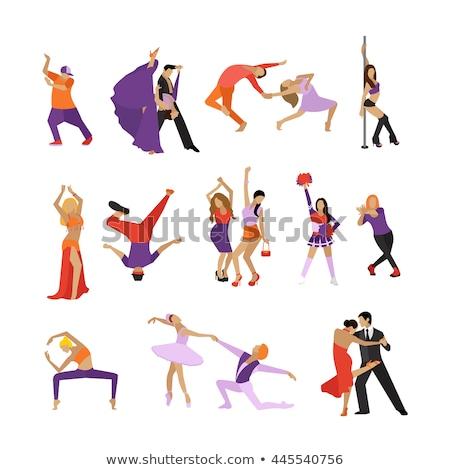 Stwarzające pole dance para studio atrakcyjny słup Zdjęcia stock © bezikus