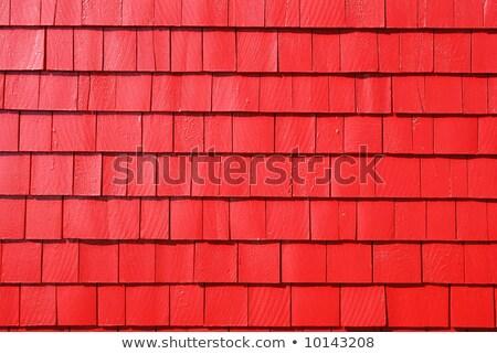 Red shingle siding Stock photo © njnightsky
