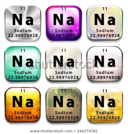 Periódusos rendszer mutat nátrium fehér oktatás kémia Stock fotó © bluering