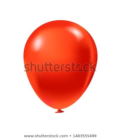 Realista vermelho balões eps 10 férias Foto stock © beholdereye