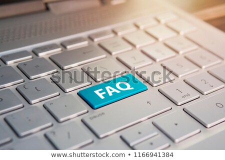 Tastatur blau Taste FAQ Internet Notebook Stock foto © Zerbor