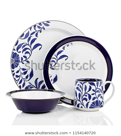 Cena establecer profundo bolos placas lado Foto stock © Digifoodstock