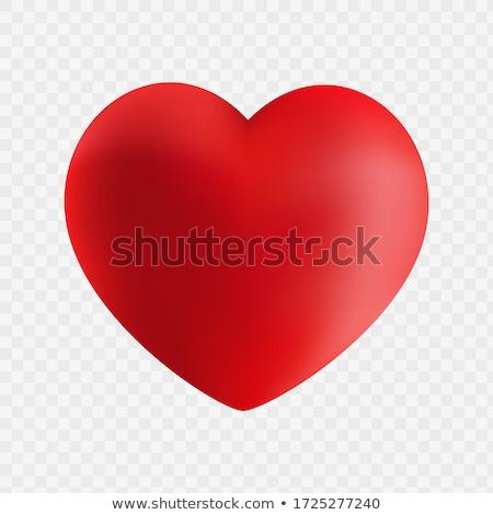big red heart 3d stock photo © djmilic