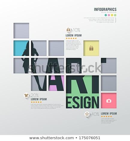 színek · minta · spektrum · poszter · vektor · terv - stock fotó © sarts