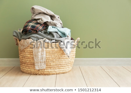 sale · panier · à · linge · buanderie · up · noir · panier - photo stock © icemanj