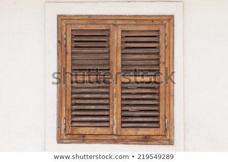 schip · venster · oud · hout · frame · muur - stockfoto © fotoyou