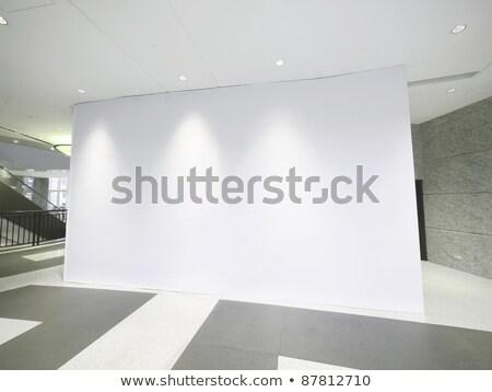 blank white billboard in showroom stock photo © cherezoff
