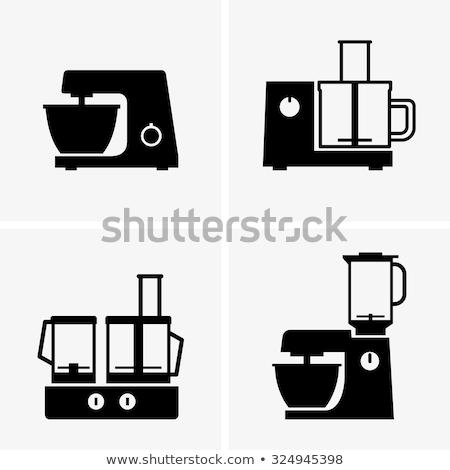 Kuchnia żywności edytor ikona pomarańczowy czarny Zdjęcia stock © angelp