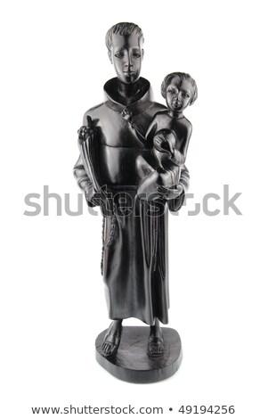 Heykel aziz İsa dini heykelcik yalıtılmış Stok fotoğraf © luissantos84