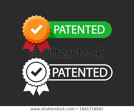 patent protected rubber stamp badge set Stock photo © SArts
