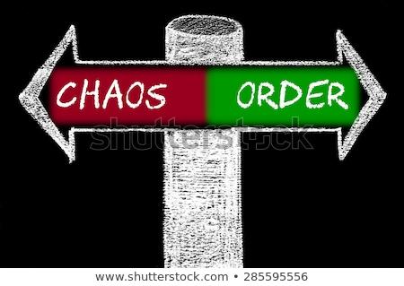 ordre · chaos · sélectionné · rouge · marqueur - photo stock © ivelin