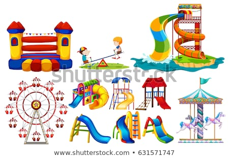 Different types of play stations at playground Stock photo © bluering