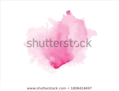 vektor · absztrakt · piros · vízfesték · terv · textúra - stock fotó © yatsenko