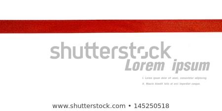 Parlak kırmızı saten şerit beyaz vektör Stok fotoğraf © fresh_5265954
