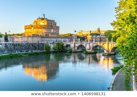 霊廟 · ローマ · イタリア · 建物 · 橋 · 石 - ストックフォト © xantana
