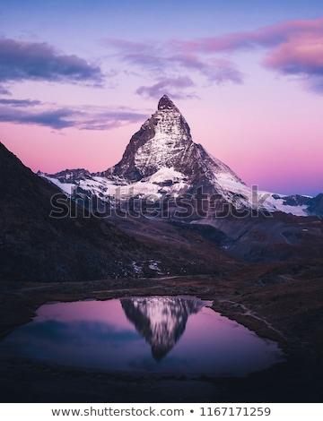 Matterhorn mountain in Switzerland Stock photo © oliverfoerstner