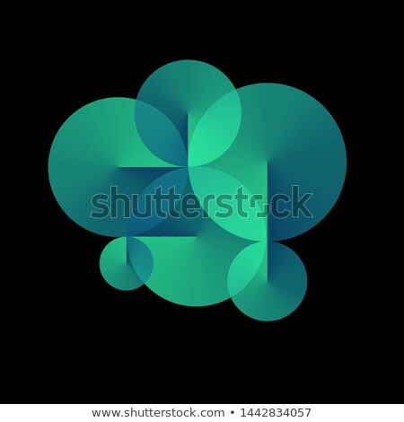 blue conical gradient vector background Stock photo © SArts