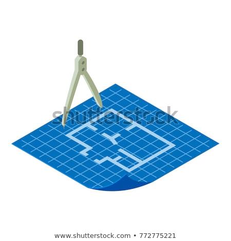 Vektor izometrikus tervrajzok izolált fehér absztrakt Stock fotó © curiosity