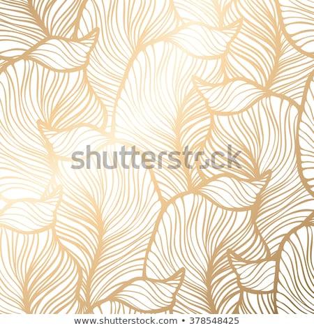 ouro · sem · costura · abstrato · floral · padrão · vintage - foto stock © fresh_5265954