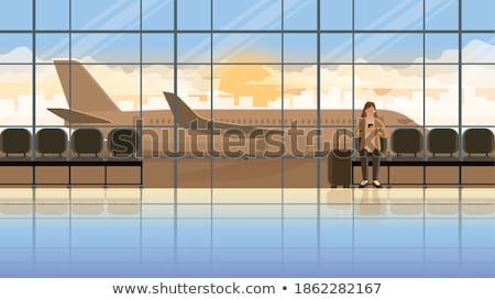 window in empty airport at morning stock photo © ssuaphoto