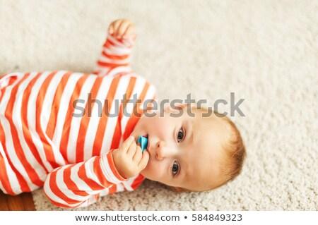 baba · kék · játékok · játék · tárgyak · játszik - stock fotó © chesterf