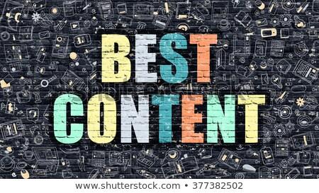 best content on dark brick wall stock photo © tashatuvango