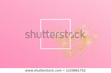 Model covered with pink glitter Stock photo © julenochek