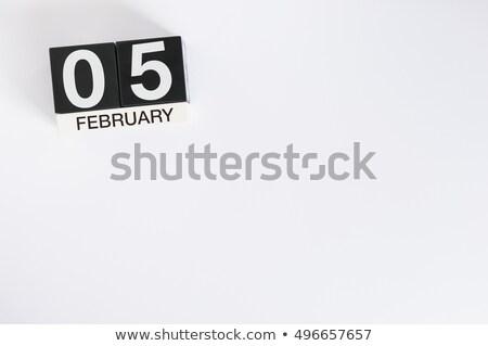 cubes 5th february stock photo © oakozhan