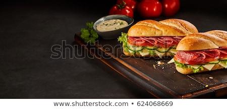 Fresche sandwich salame bianco pane Foto d'archivio © Digifoodstock